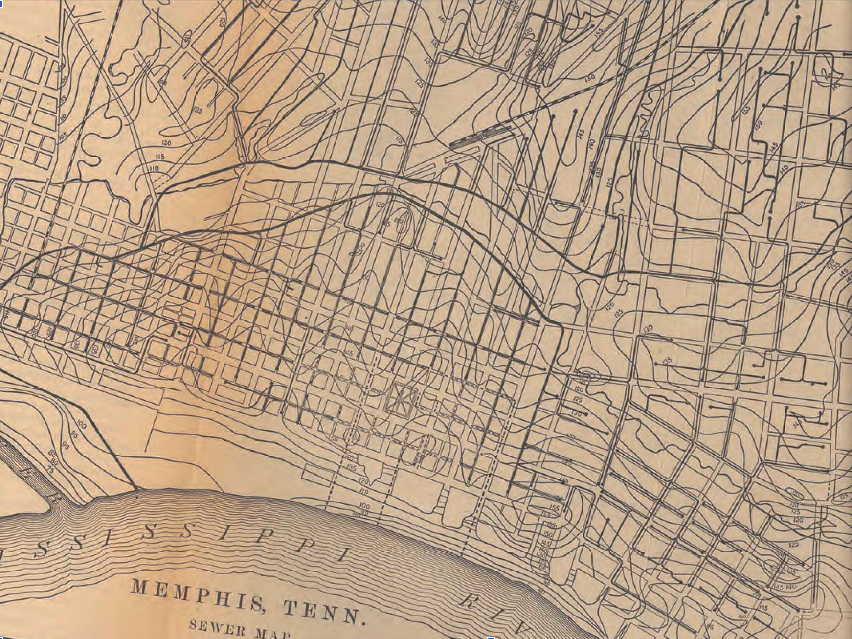 Vintage sewer map memphis