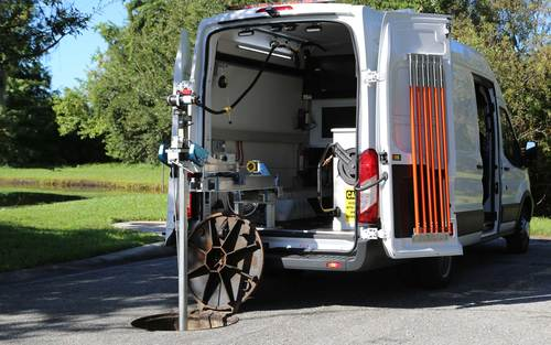 ​CUES Manhole Inspection Vehicles can operate any CUES manhole camera.