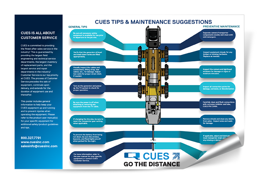CUES Tips and Maintenance Poster